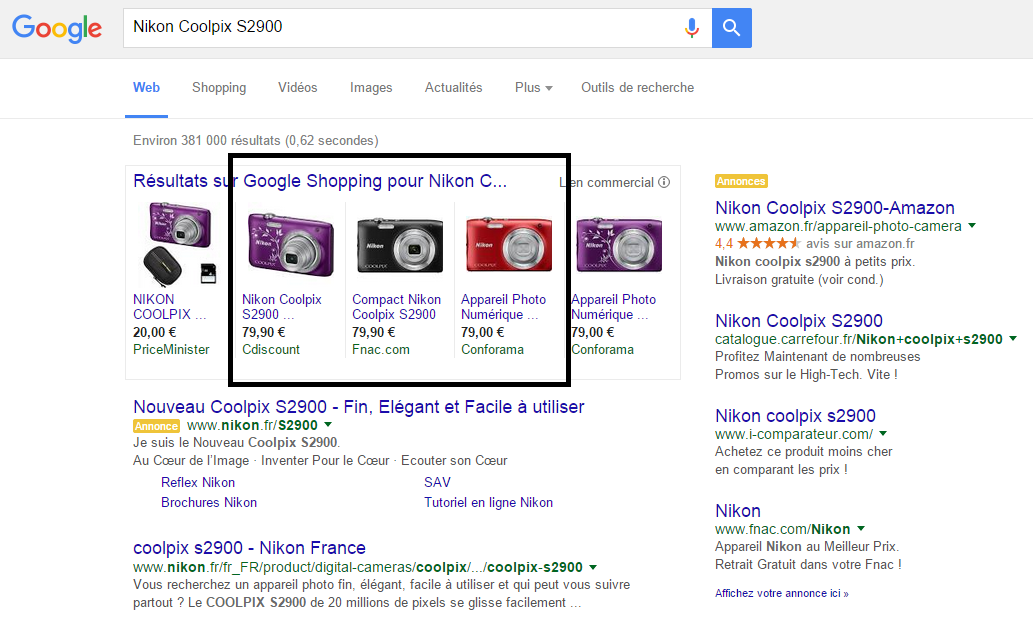 Capture Google Shopping